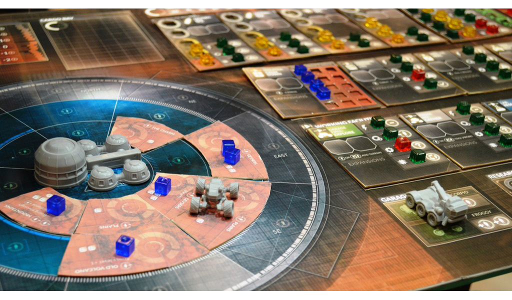 first martians adventure on the red pla  team board game